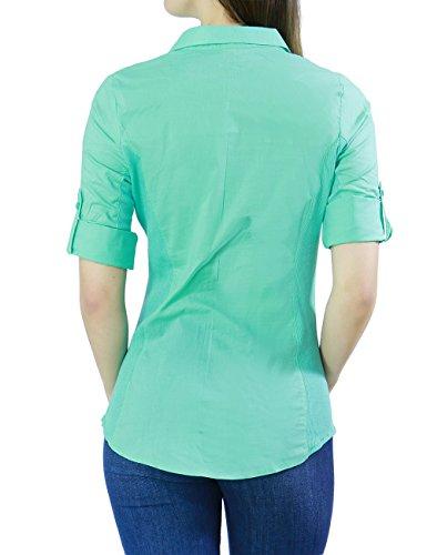 mint shirt womens office photo - 1