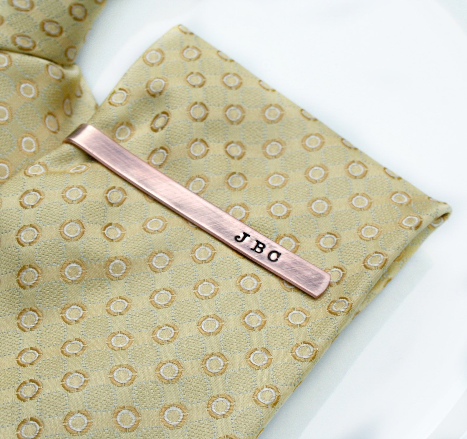 monogrammed tie bar photo - 1