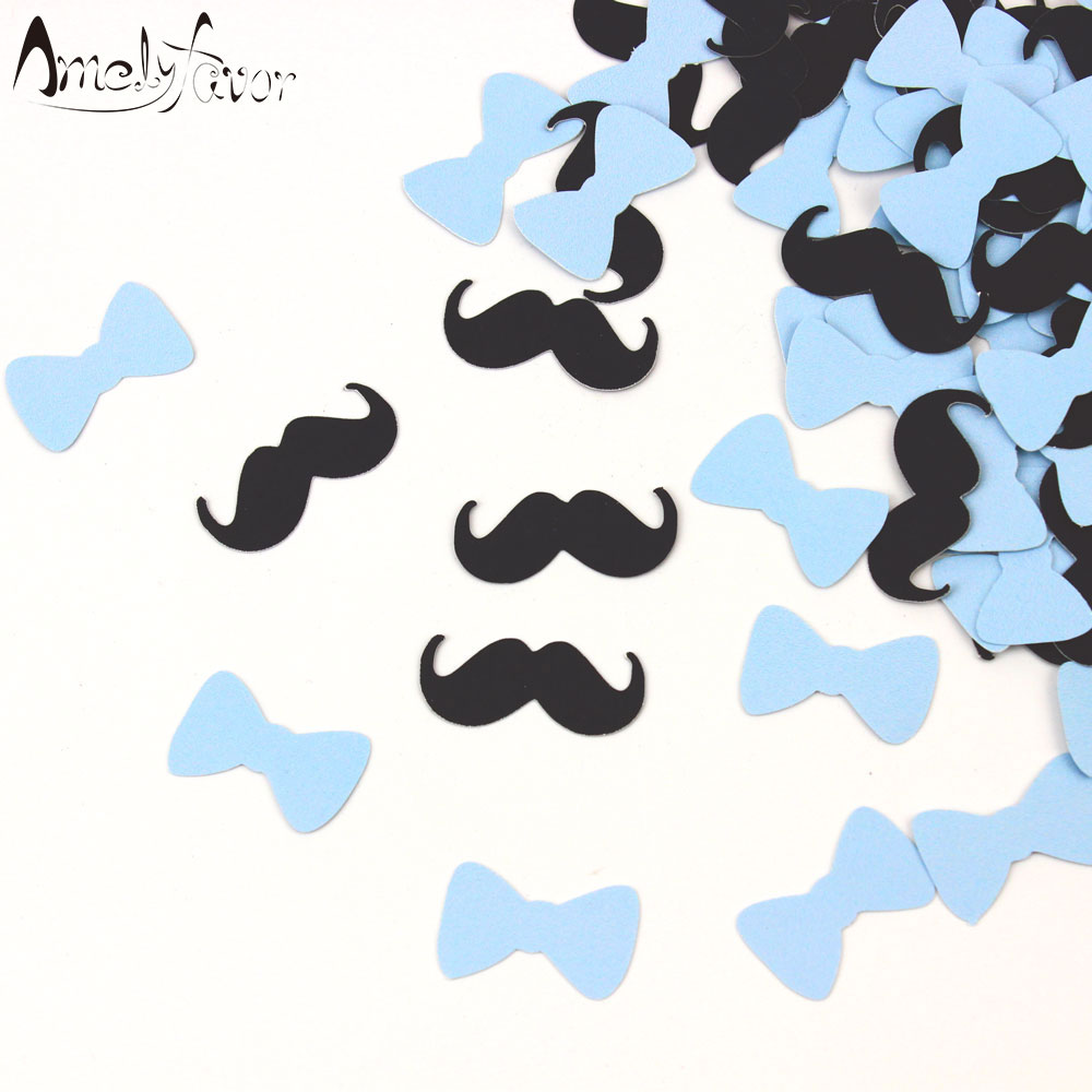 mustache and bow tie baby shower photo - 1