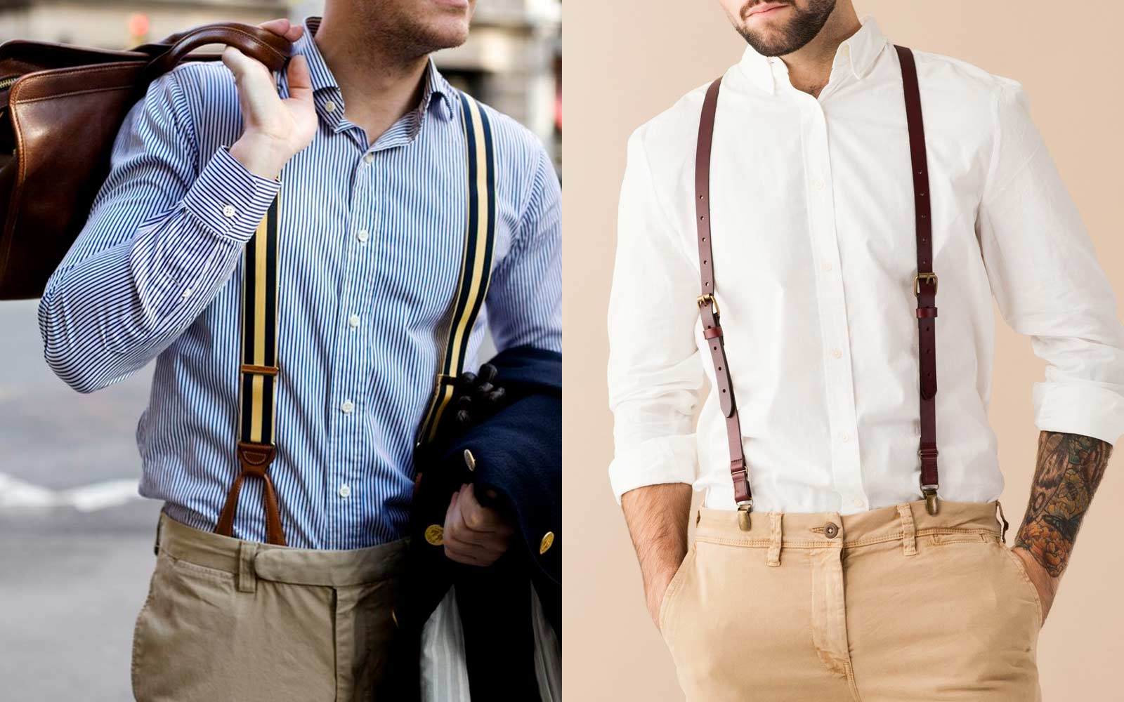 navy blue bow tie and suspenders photo - 1