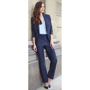 navy blue suit for women photo - 1