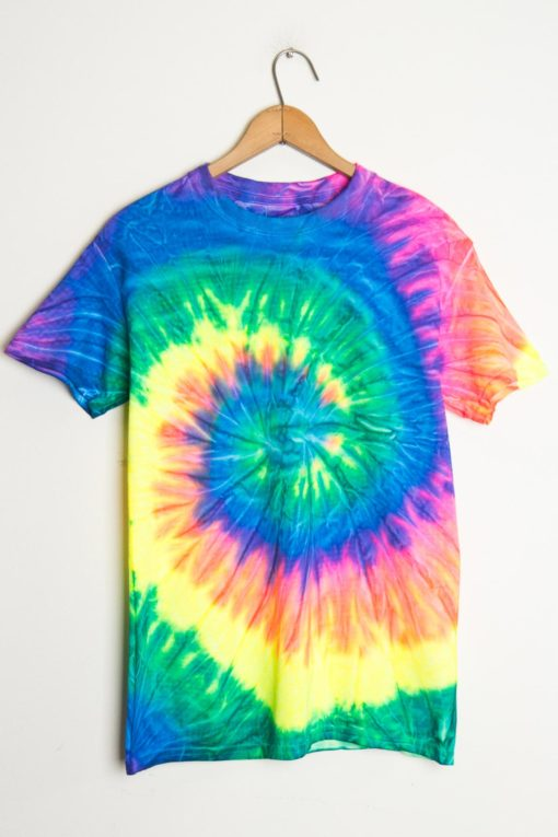neon tie dye shirt photo - 1