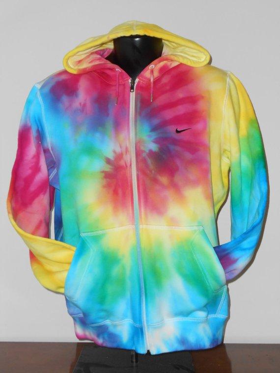 nike tie dye hoodie photo - 1