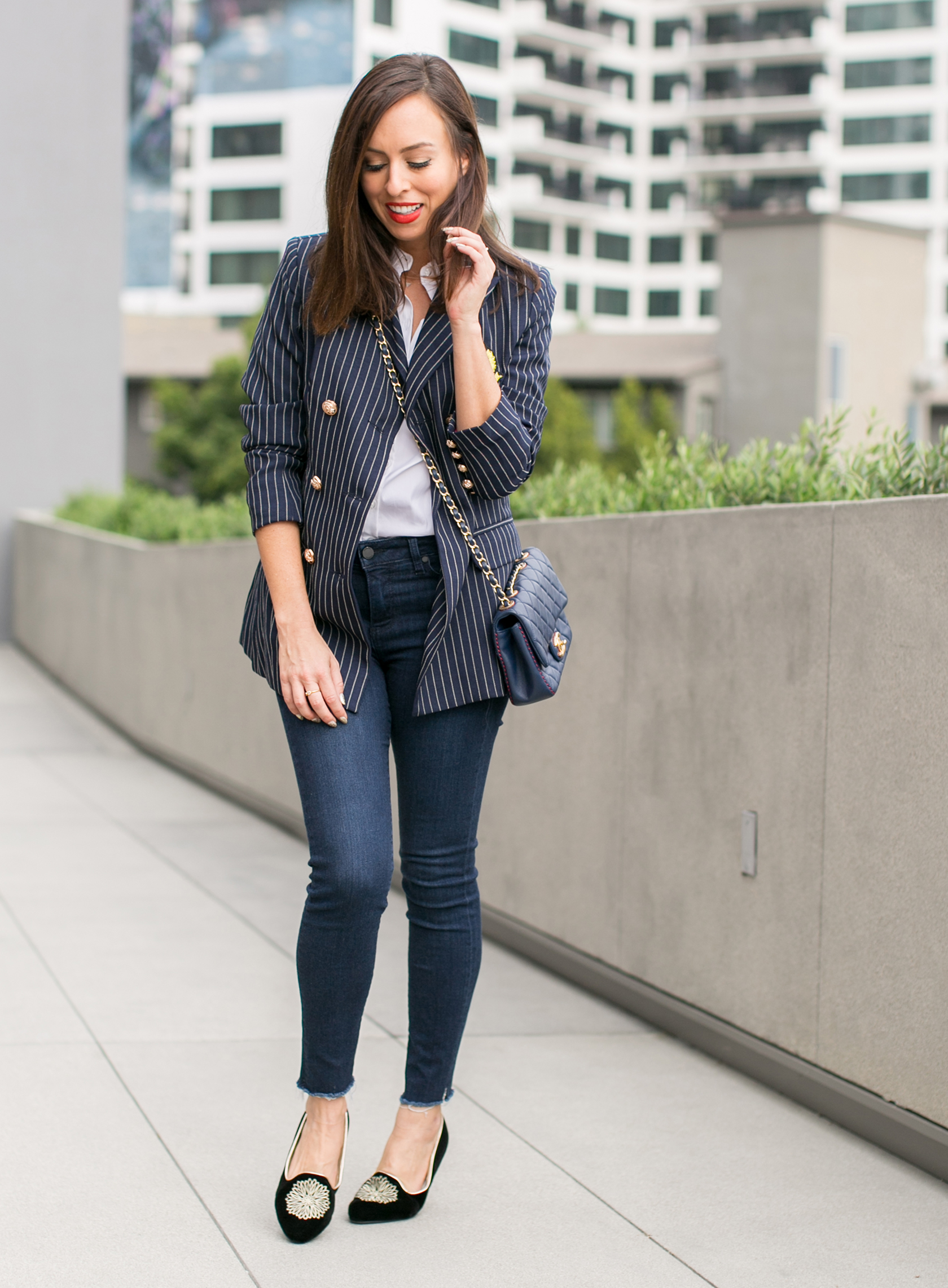 office casual shirt and jeans photo - 1