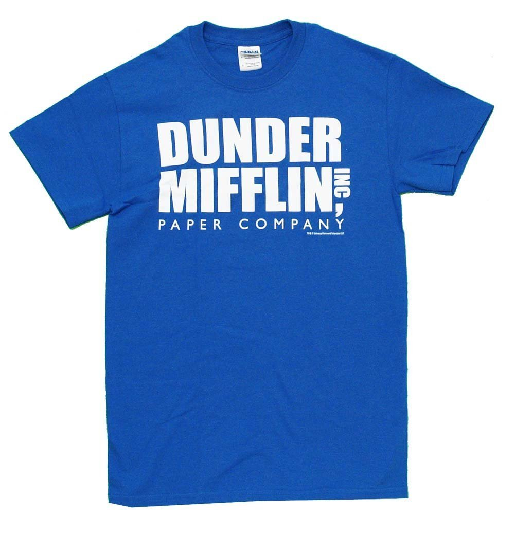 office character in dunder miflin shirt photo - 1