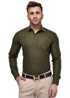 office green mens dress shirt photo - 1