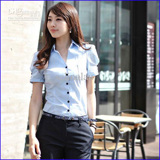 office shirt for pregnant lady photo - 1