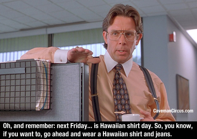 office space quote hawaiian shirt day photo - 1