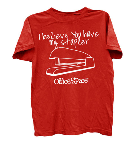 office space red stapler t shirt photo - 1