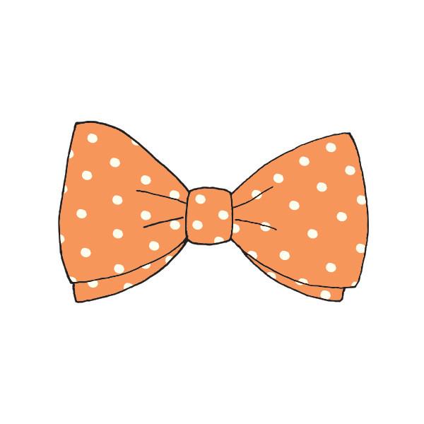 orange bow tie photo - 1
