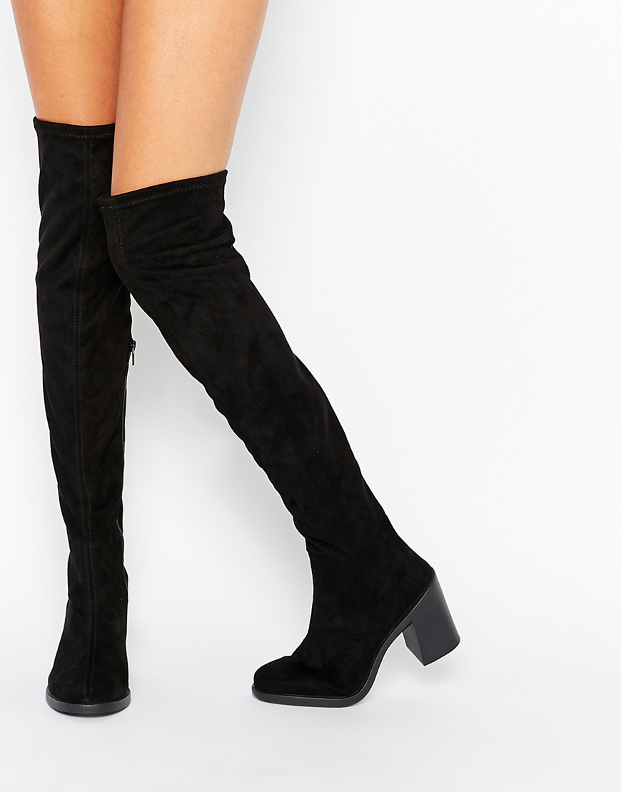 over the knee tie up boots photo - 1