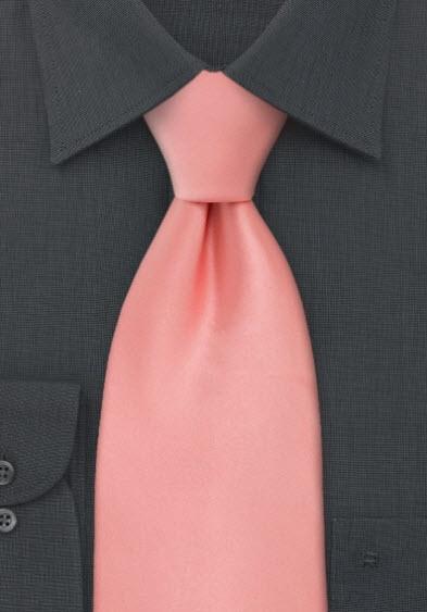 peach color tie photo - 1