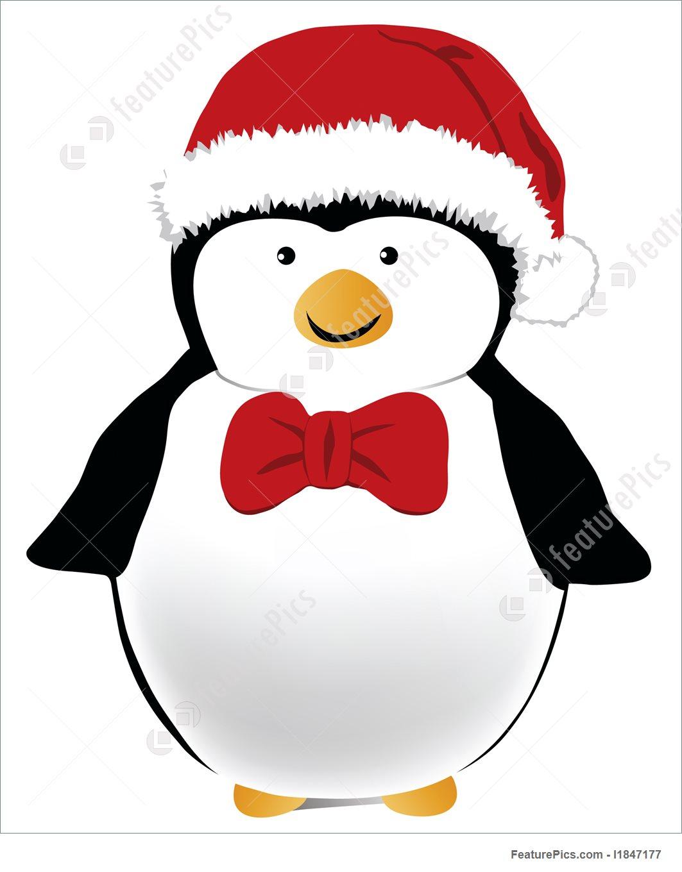penguin with bow tie photo - 1
