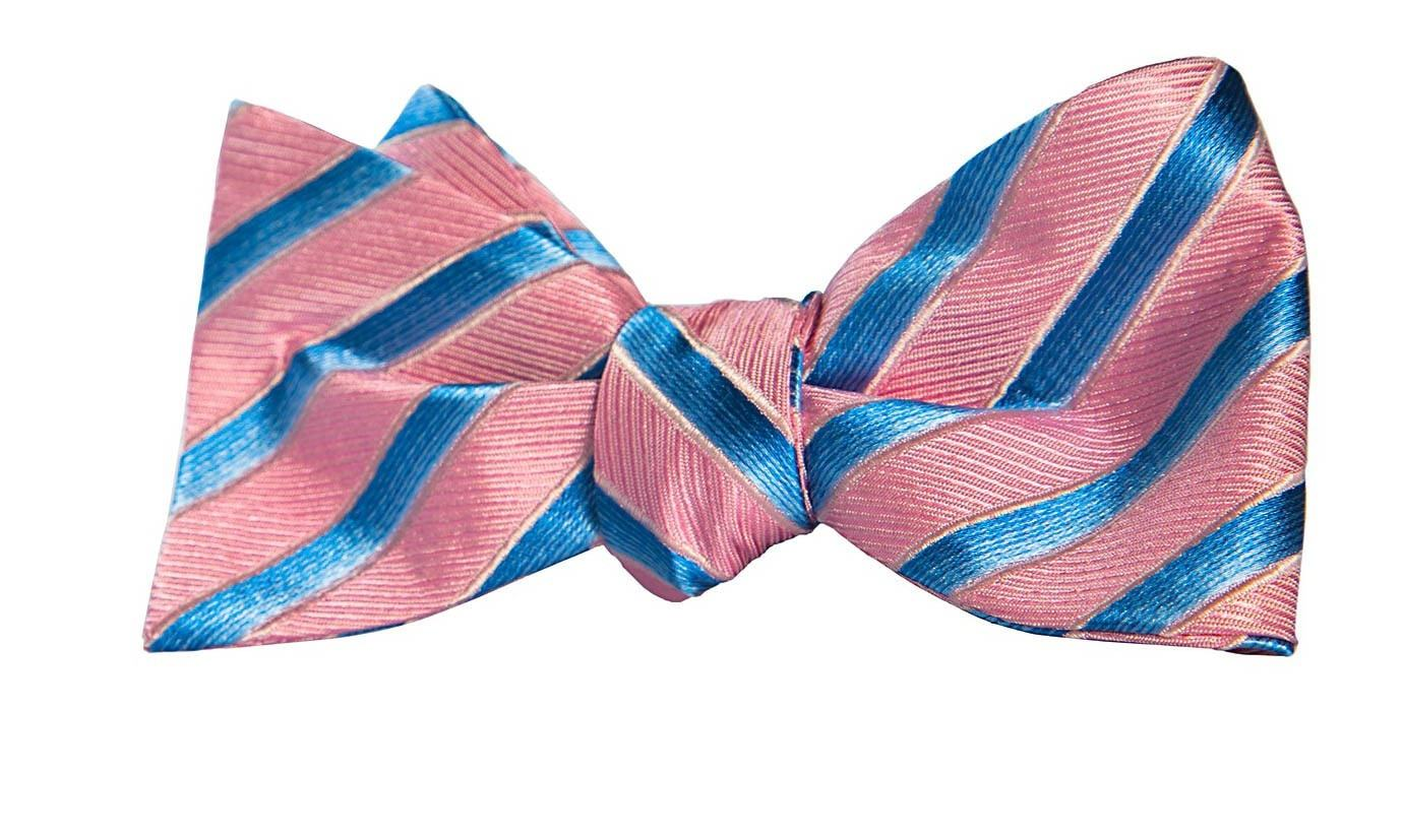 pink and blue bow tie photo - 1