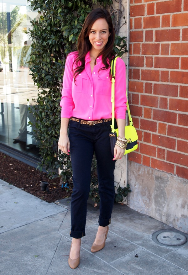 pink shirt outfit office womens photo - 1