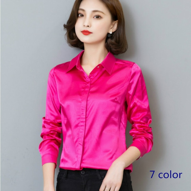 pink t shirt womens for office photo - 1