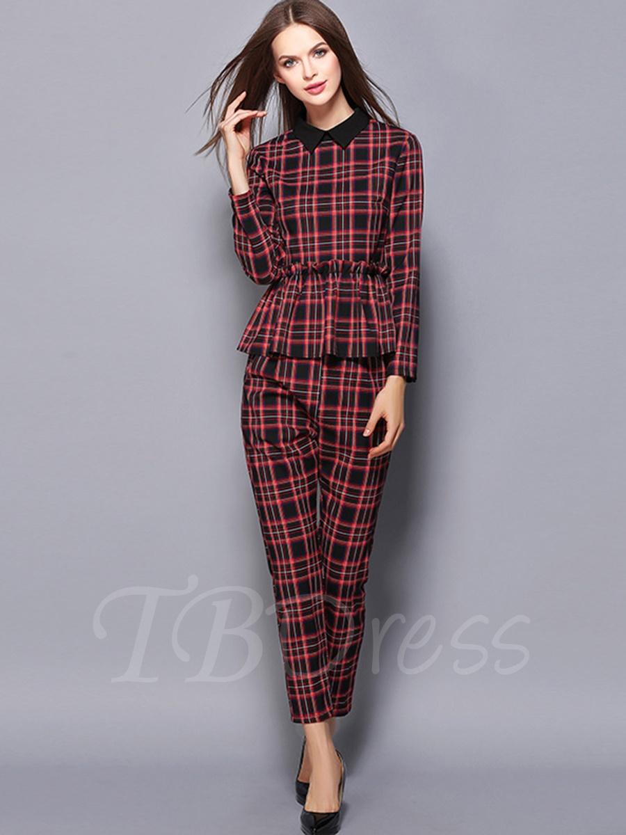 plaid suit women photo - 1