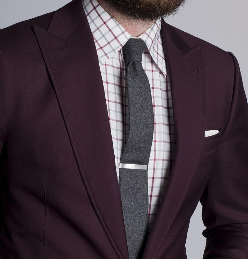 proper tie clip placement photo - 1