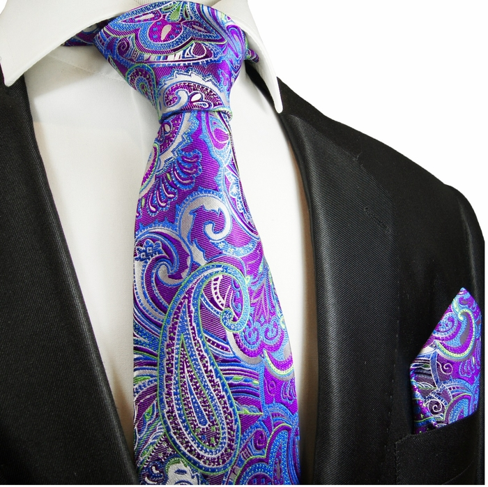 purple paisley tie photo - 1