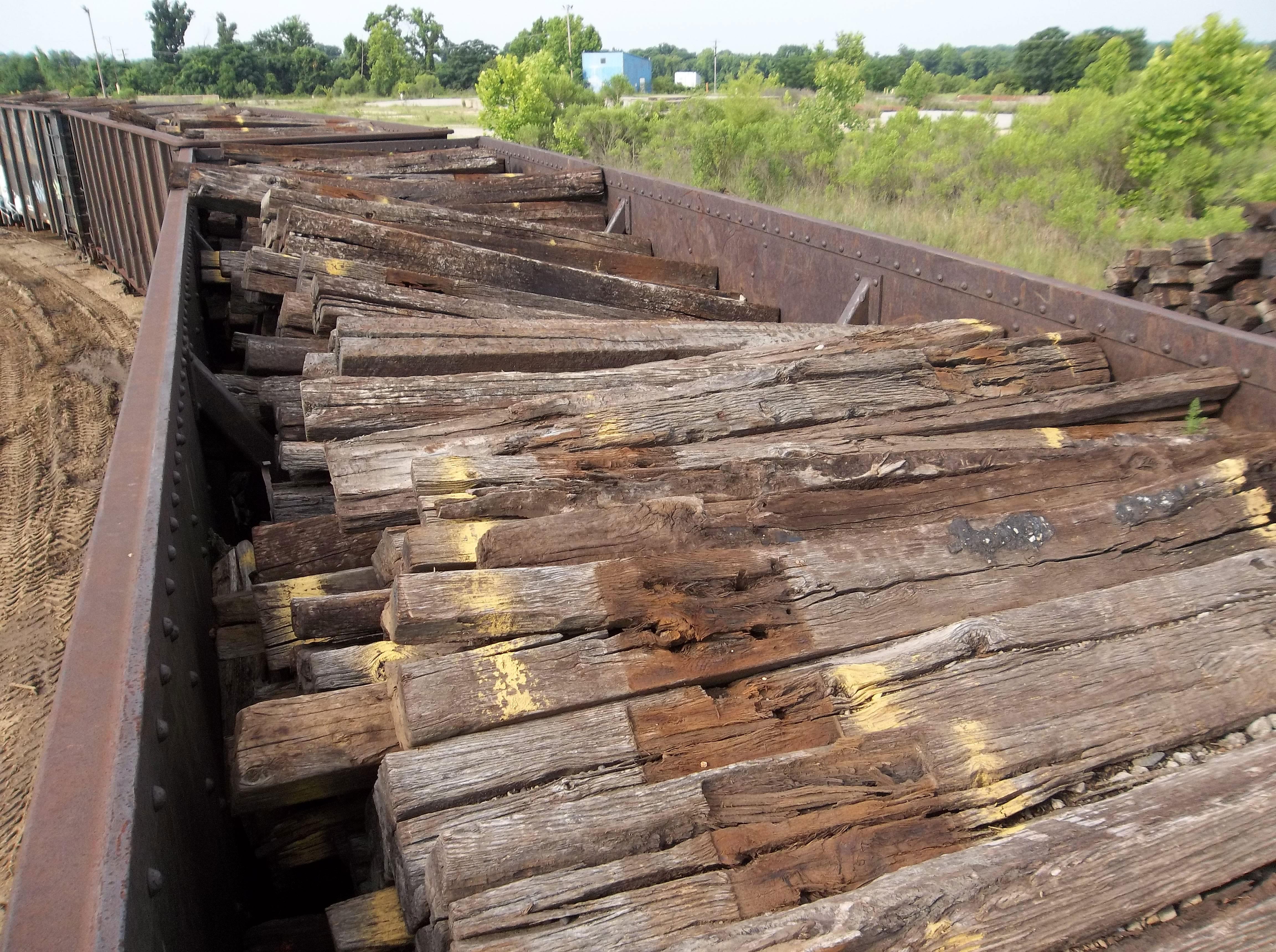 railroad tie disposal photo - 1