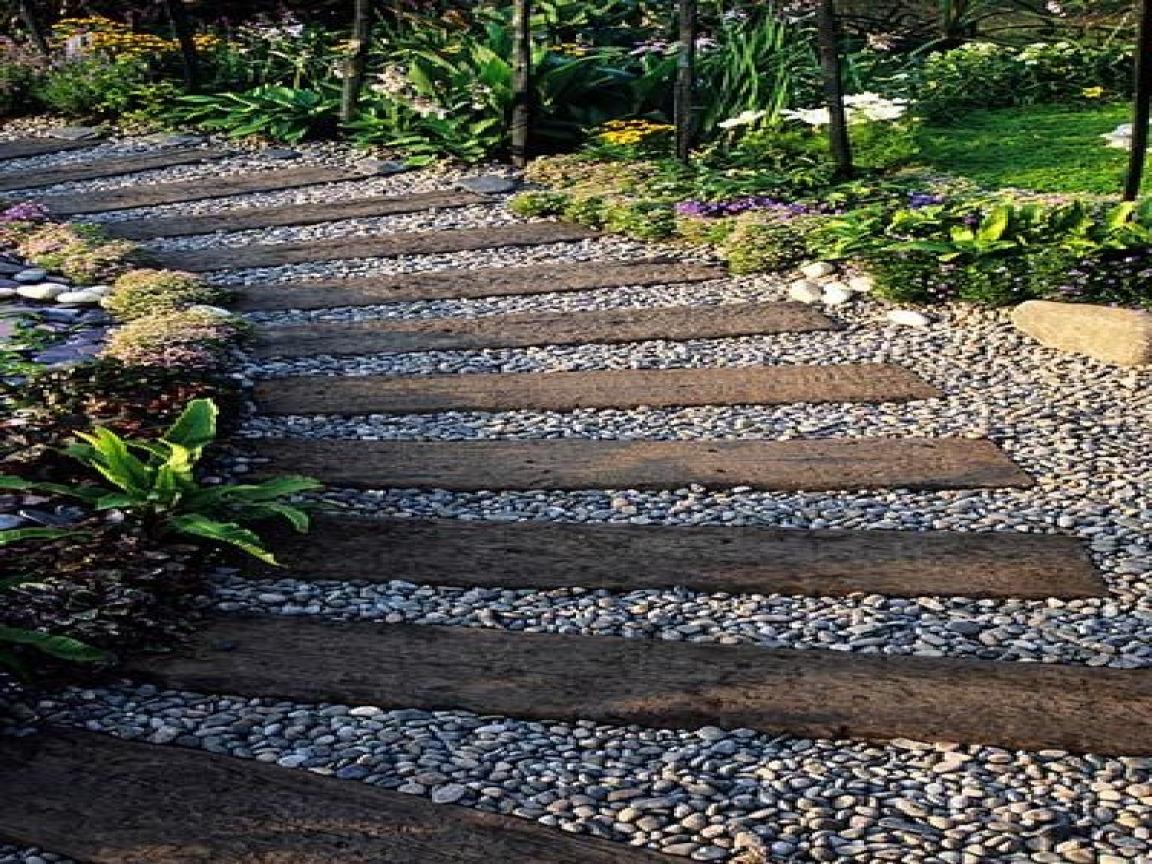 railroad tie driveway photo - 1