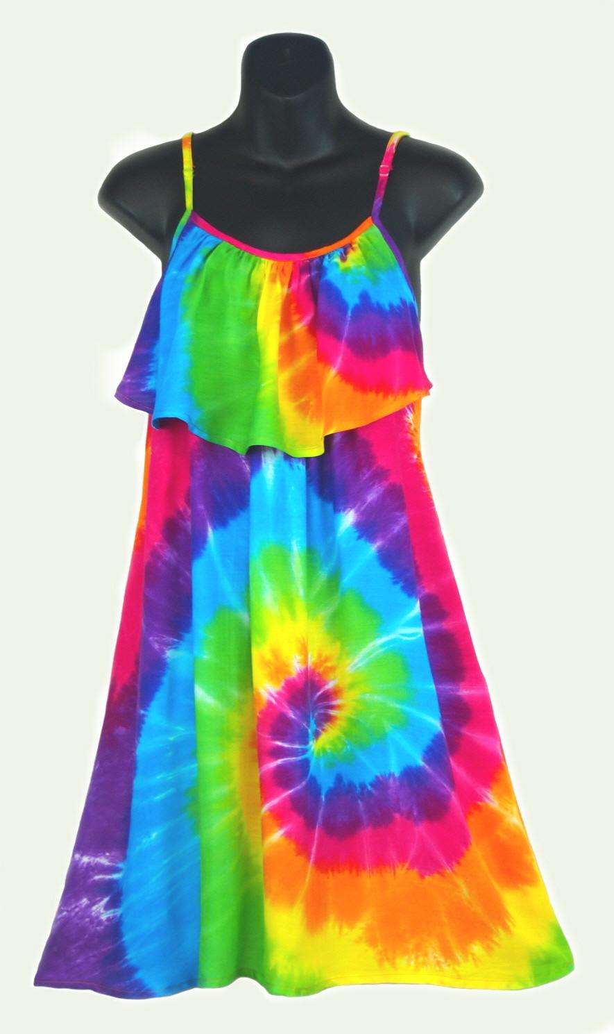 rainbow tie dye dress photo - 1