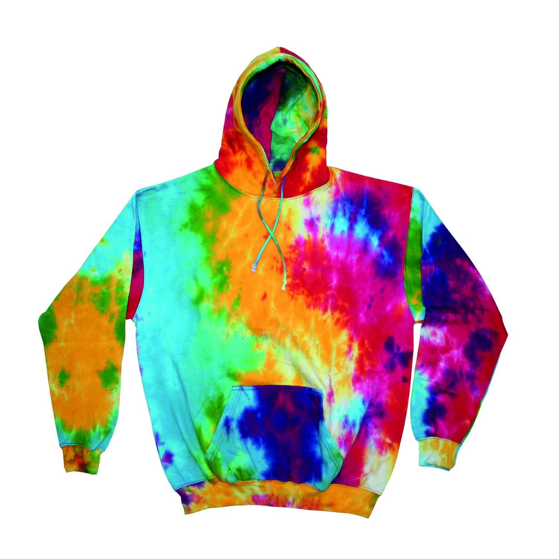 rainbow tie dye hoodies photo - 1