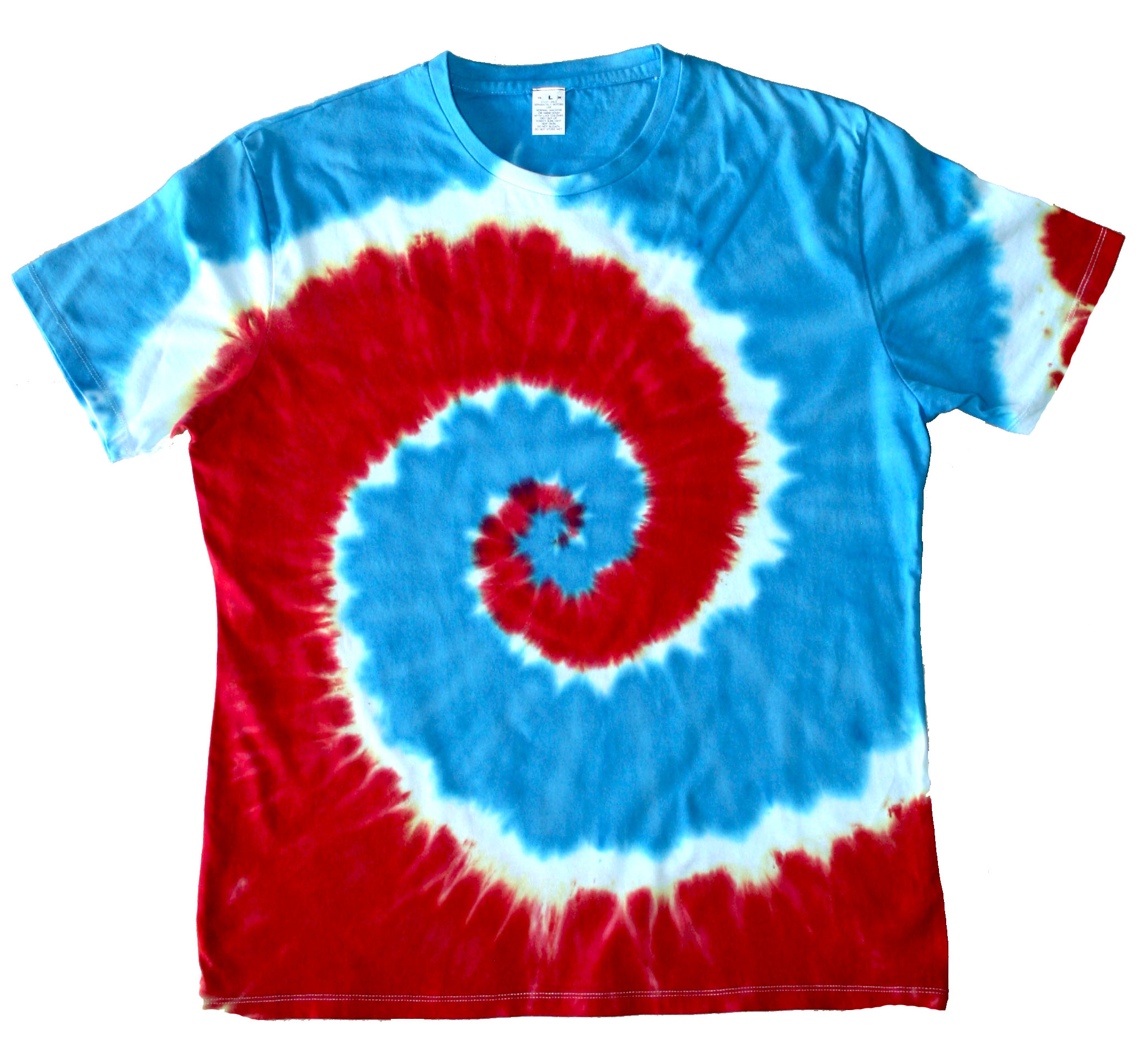red white and blue tie dye shirts photo - 1