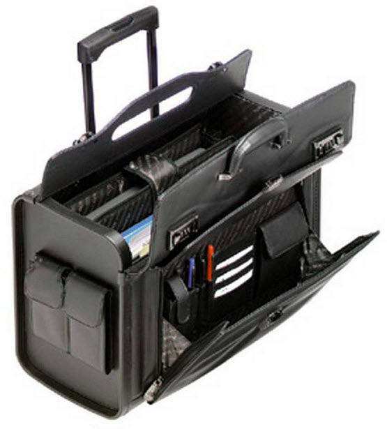 rolling briefcase for teachers photo - 1