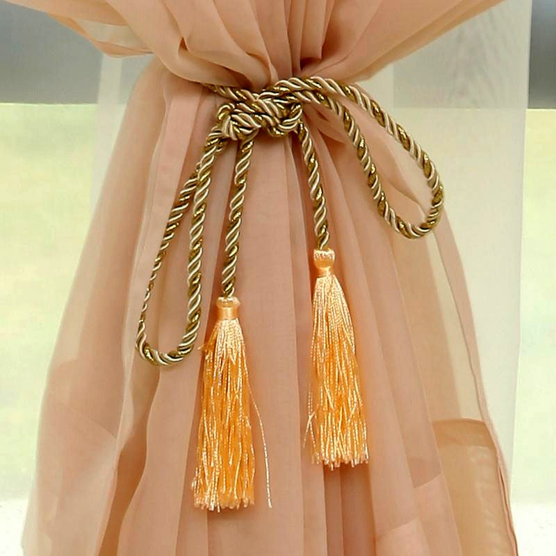 rope curtain tie backs photo - 1