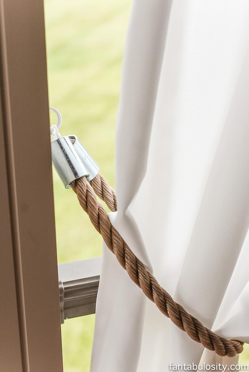 rustic curtain tie backs photo - 1