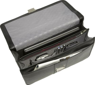 samsonite leather flapover briefcase photo - 1