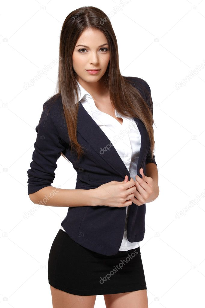 sexy business woman suit photo - 1