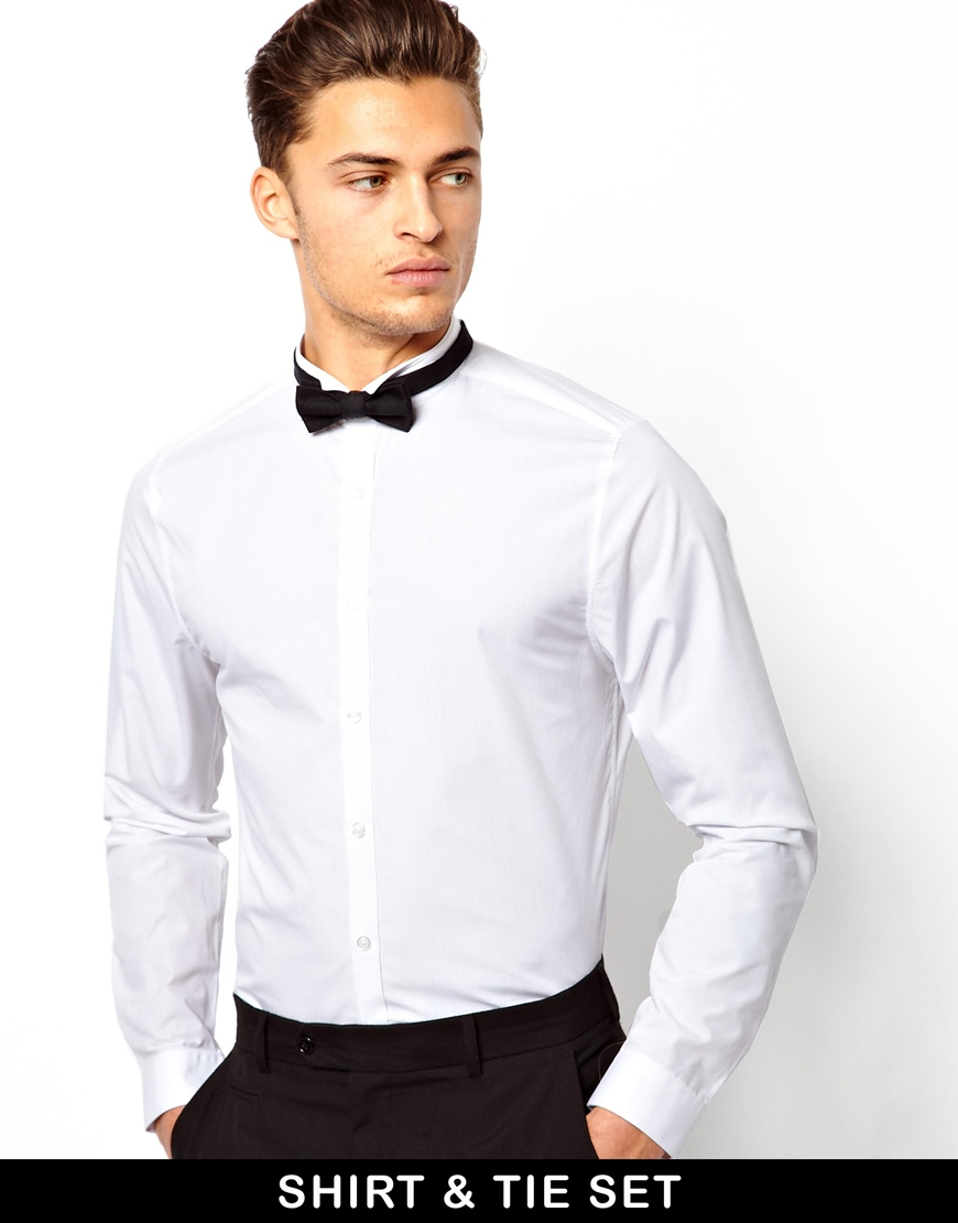 shirt and bow tie photo - 1
