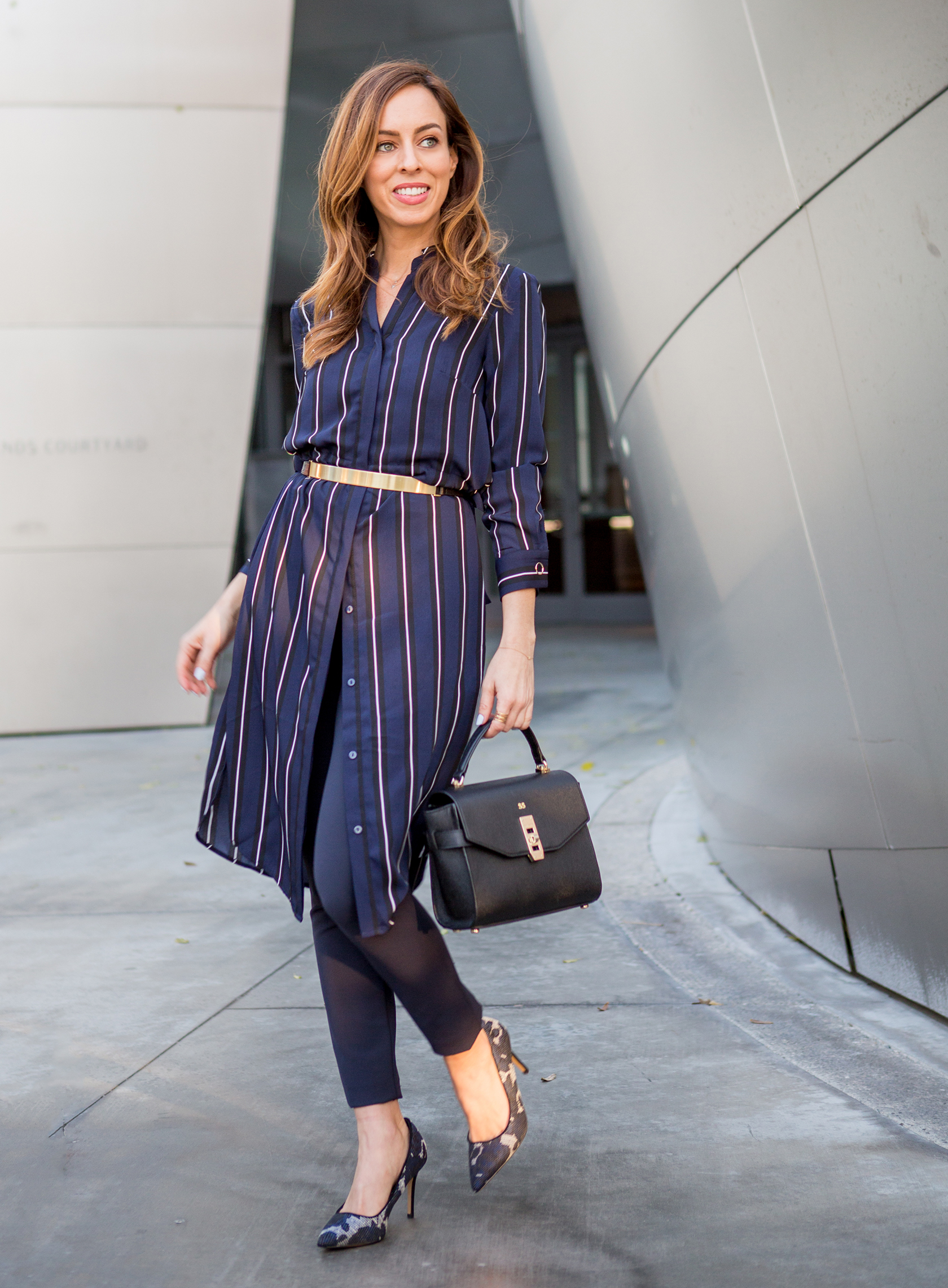 shirt dress outfit office photo - 1