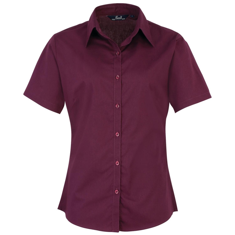 short sleeve poplin office shirt photo - 1