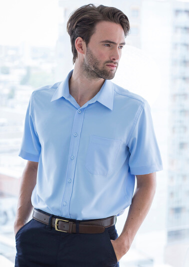 short sleeve shirt office photo - 1