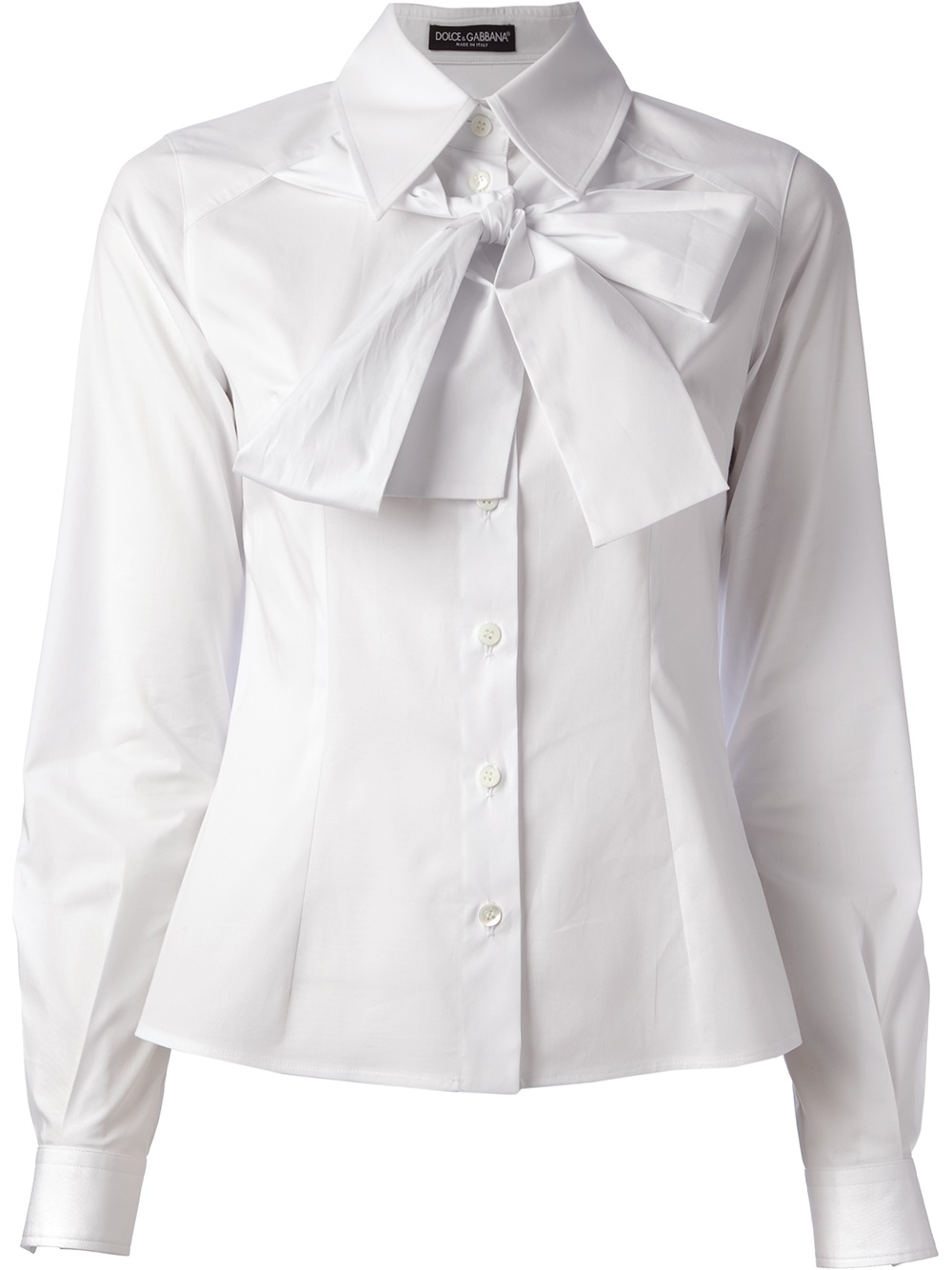 short sleeve shirt with bow tie photo - 1
