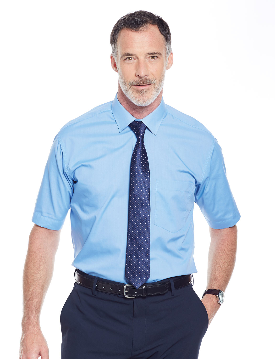 short sleeve with tie photo - 1