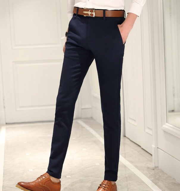 skinny suit pants men photo - 1