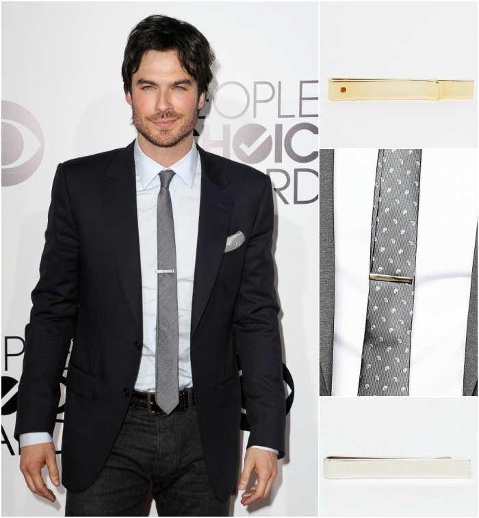 skinny tie clip photo - 1