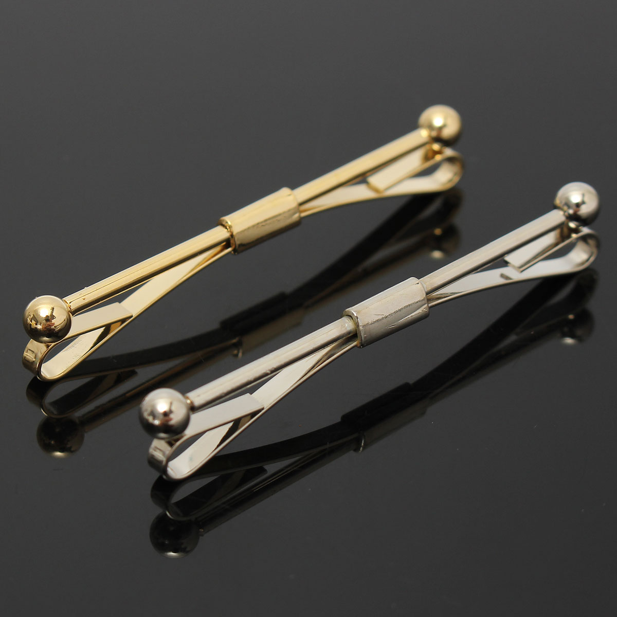 skinny tie clips photo - 1