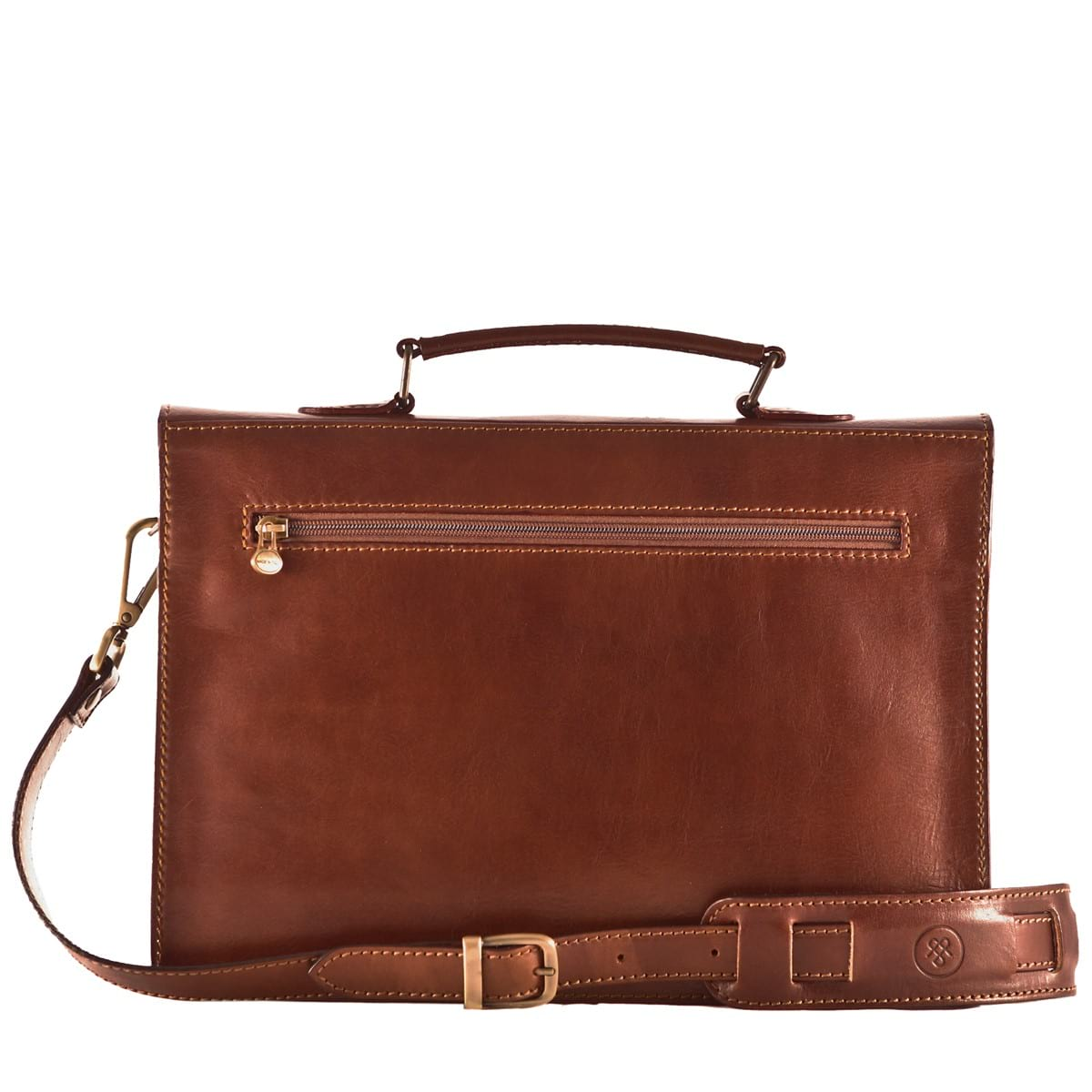 small leather briefcase photo - 1