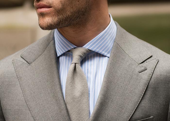 spread collar no tie photo - 1