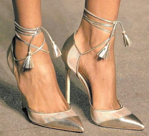 strappy tie up heels photo - 1