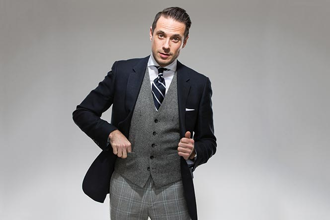 suit vest for men photo - 1