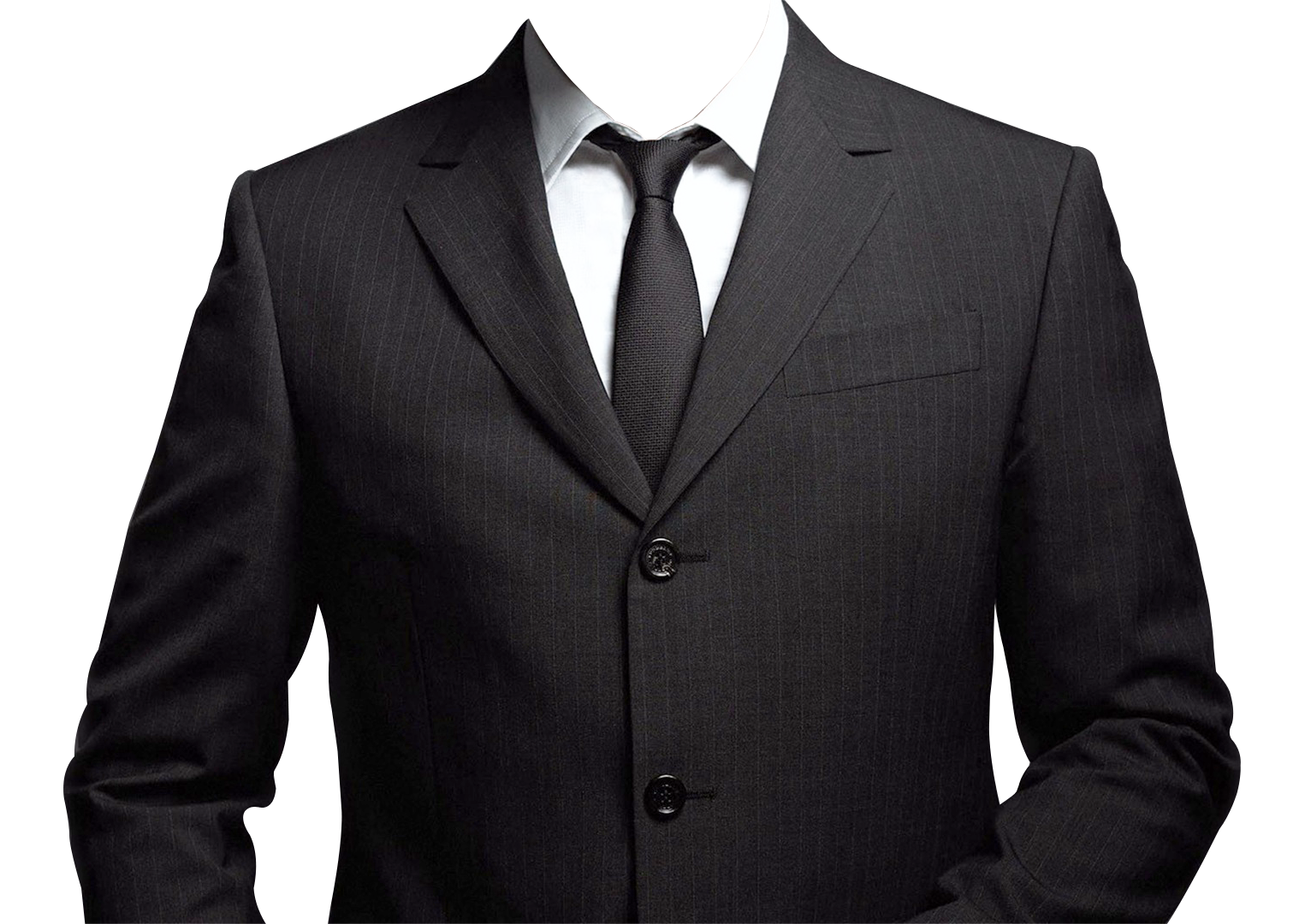 suit without tie photo - 1