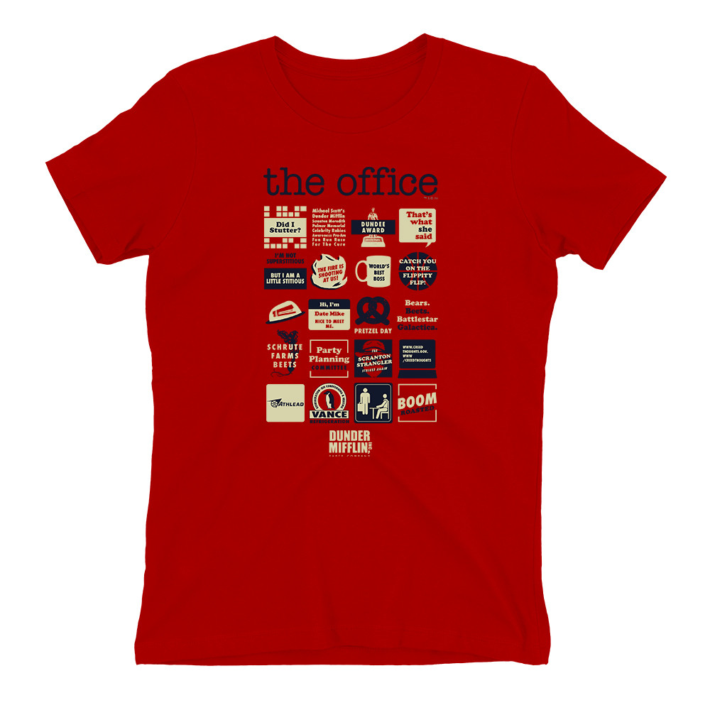 the office quote mashup t-shirt photo - 1