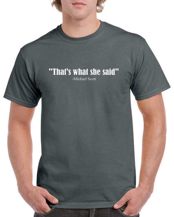 the office thats what she said shirt photo - 1