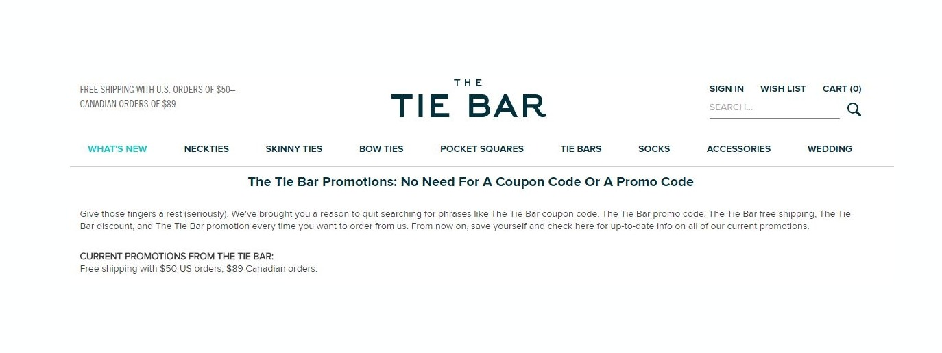 the tie bar coupon code photo - 1